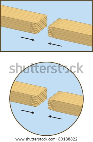 Finger jointed 2x4 lumber - stock vector