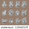 finger stickers - stock vector