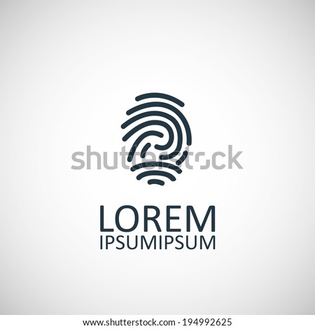 fingerprint icon - stock vector