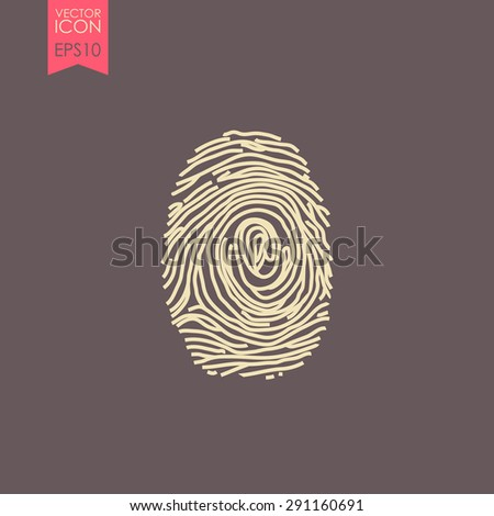 Fingerprint vector icon.