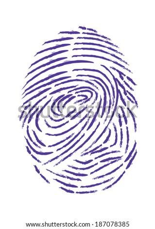 Fingerprint Vector Isolated on White Background - stock vector