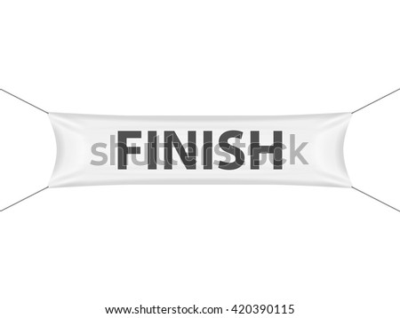 Finish banner on a white background. - stock vector