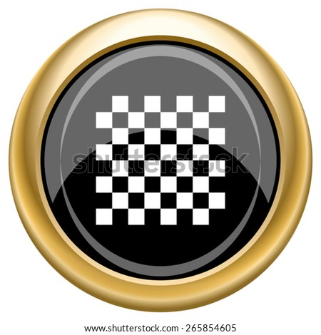 Finish flag icon. Internet button on white  background. EPS10 Vector. - stock vector