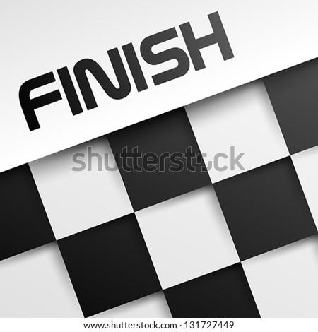 finish square template, winnig template, - stock vector