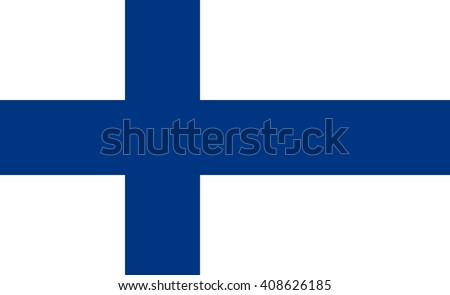 Finland flag, official colors and proportion correctly. National Finland flag. Finland flag vector. Finland flag correct. Finland flag drawing. Finland flag JPG. Finland flag JPEG. Finland flag EPS. - stock vector