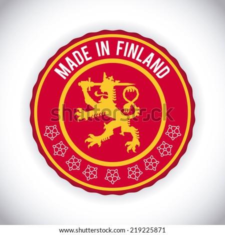 finland graphic design , vector illustration - stock vector