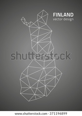 Finland map - stock vector