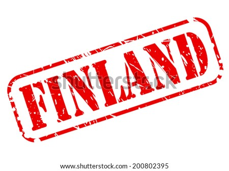 Finland red stamp text on white - stock vector