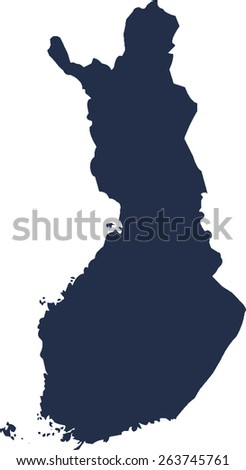 Finland Vector map. High detailed.