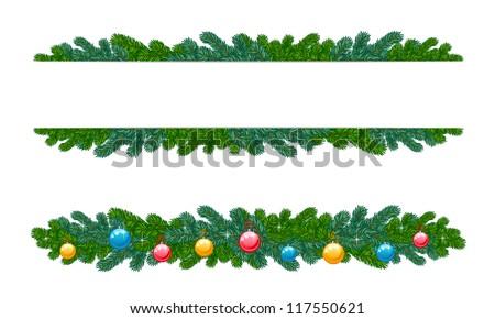 Fir decoration - stock vector