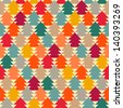 fir-tree abstract pattern. - stock vector