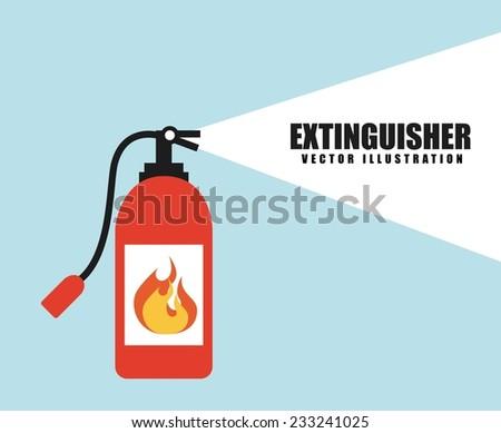 fire alarm design , vector illustration - stock vector