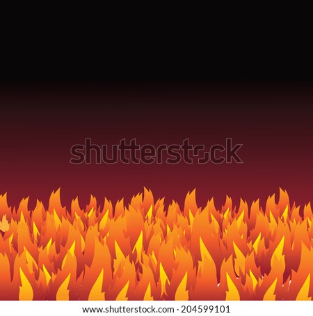 Fire and flames background. EPS 10 vector, grouped for easy editing. No open shapes or paths. - stock vector