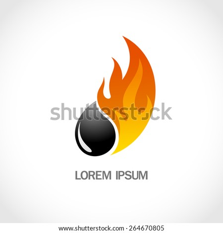 Fire and oil logo.lorem ipsum - stock vector