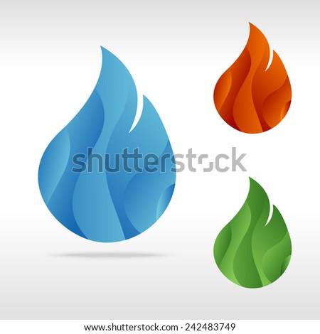 Fire art - stock vector