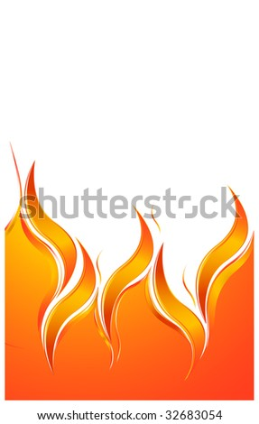 fire background - stock vector