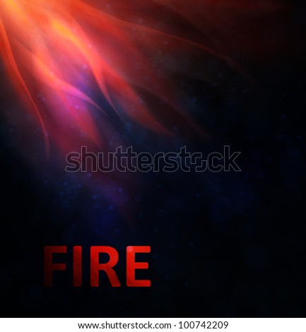 Fire background. Abstract  vector illustration eps10 - stock vector