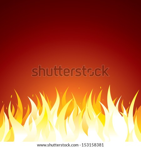 Fire Background. Vector Template for Text or Design - stock vector