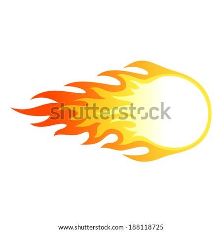 Fire ball - stock vector