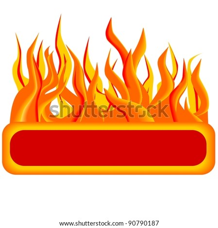 Fire button - stock vector