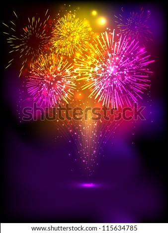 Fire Crackers Background For Diwali Festival Celebration In India EPS 10