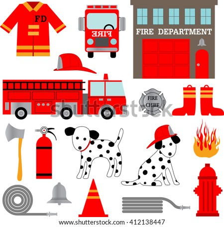 fire department clipart stock vector royalty free 412138447 rh shutterstock com fire department clip art cross fire department clipart black and white