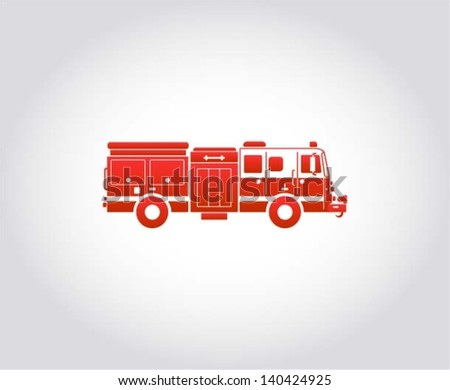 Fire Engine / rescue team, internet icon, design element, vector illustration - stock vector