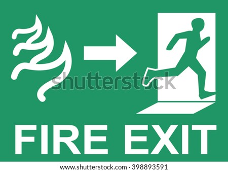 Fire exit vector - stock vector