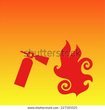 Fire extinguisher background - stock vector