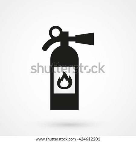 fire extinguisher Icon isolated on background. Modern flat pictogram, business, marketing, internet concept. Trendy Simple vector symbol for web site design or button to mobile app. Logo illustration - stock vector