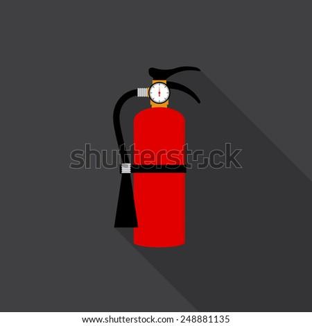 Fire extinguisher icon - Vector - stock vector
