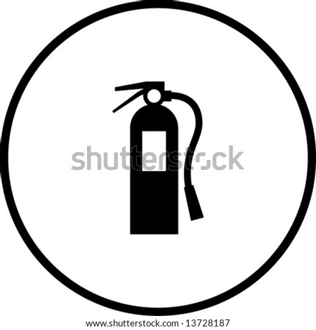 Fire Extinguisher Symbol Stock Vector 13728187 Shutterstock
