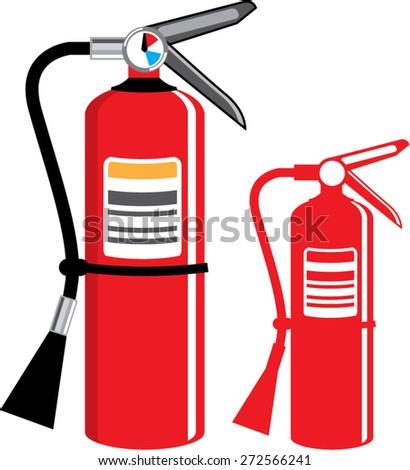 Fire extinguisher Vector - stock vector