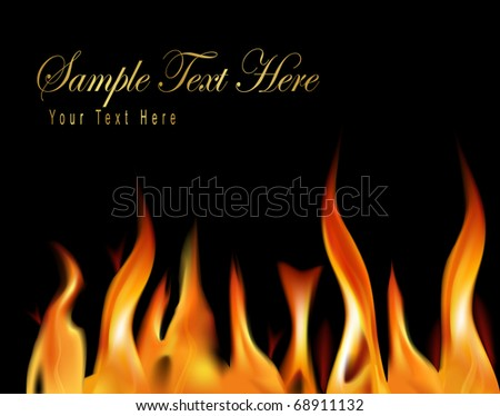 Fire flame background. Vector illustration. - stock vector