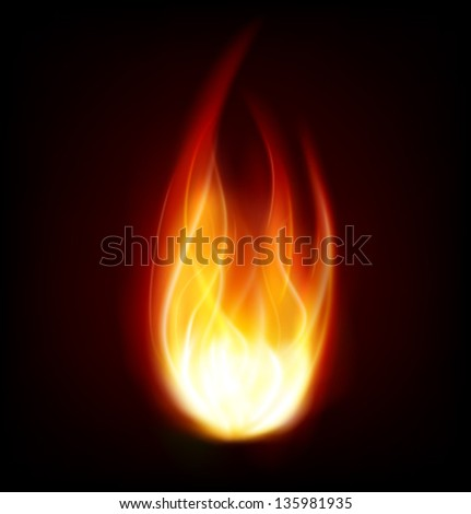 fire flame burning background - stock vector