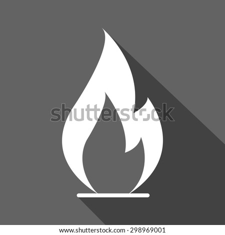 fire flame glowing icons. flat design - stock vector