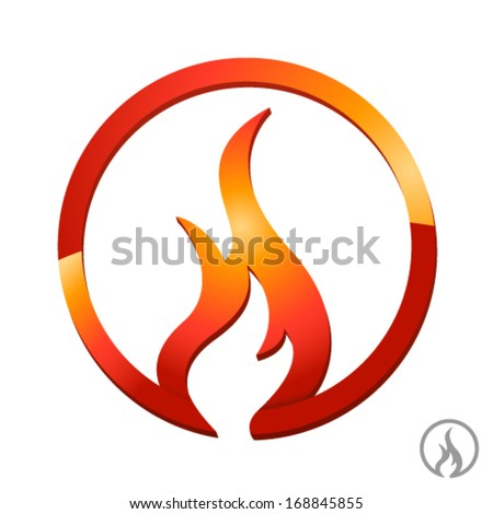 fire, flame icon - stock vector
