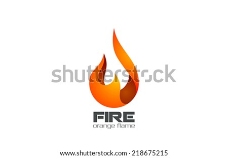 Fire Flame Logo design vector template. Fireball logotype icon - stock vector