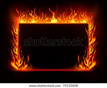 Fire frame - stock vector