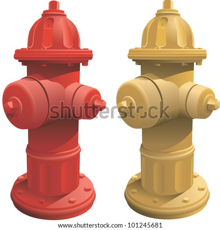 Fire Hydrants - stock vector