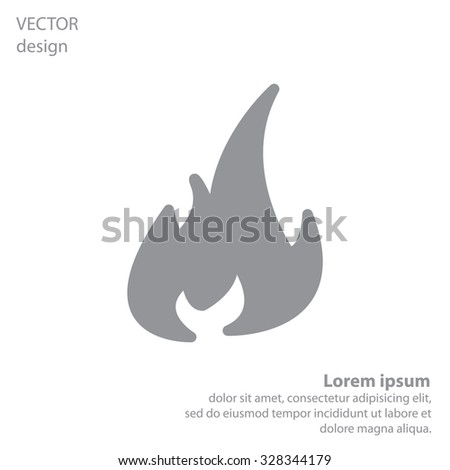 Fire icon. Fire symbol. Stop fire. Escape from fire. Vector