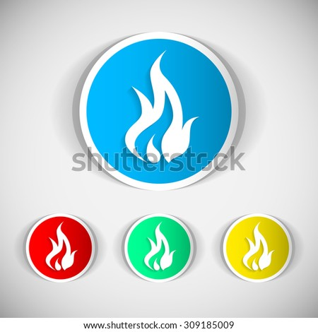 Fire icon. Flames icon. - stock vector