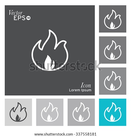 Fire icon - vector, illustration. - stock vector