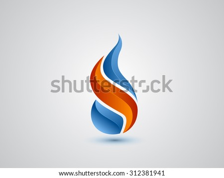 Fire identity symbol. Vector illustration. Logo design - stock vector