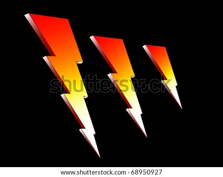 Fire Lightning/High Voltage Icon vector illustration - stock vector
