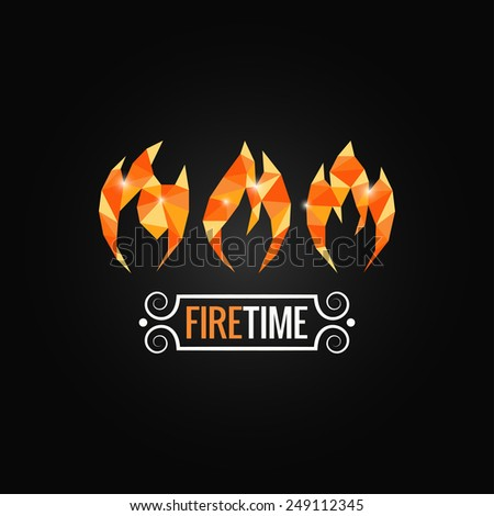fire poly design background