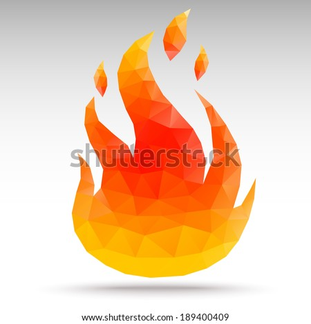 Fire. Polygonal geometric - stock vector