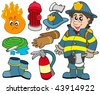 Fire protection collection - vector illustration. - stock photo