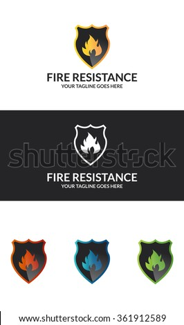 Fire Resistance If you are looking for a icons skills , Fire Resistance  Logo is an excellent logo template suitable for your company. - stock vector