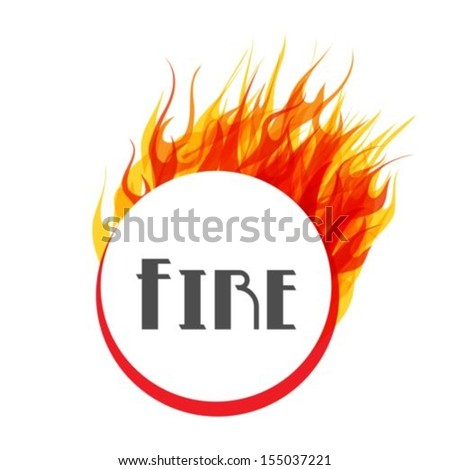 Fire Ring On White Background,Vector